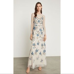 NWT BCBG Floral Embroidered Evening Gown Size 2